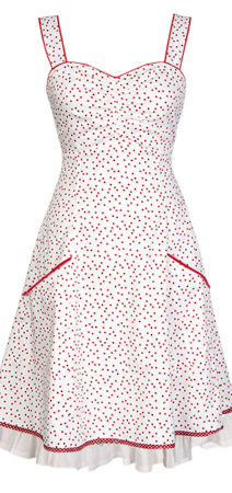 Dress inspired by 50s pinup and Mad Men style - knee-length dress - made from organic cotton
