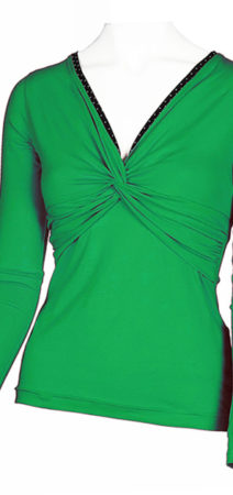 Green blouse made from organic cotton