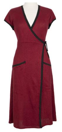 Wrap-around red dress